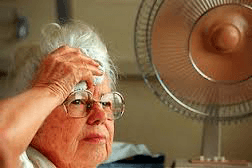 heat stroke elderly woman